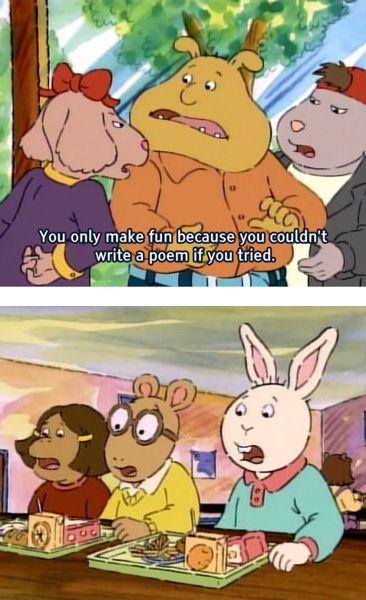 binky burns funny arthur cartoon insult
