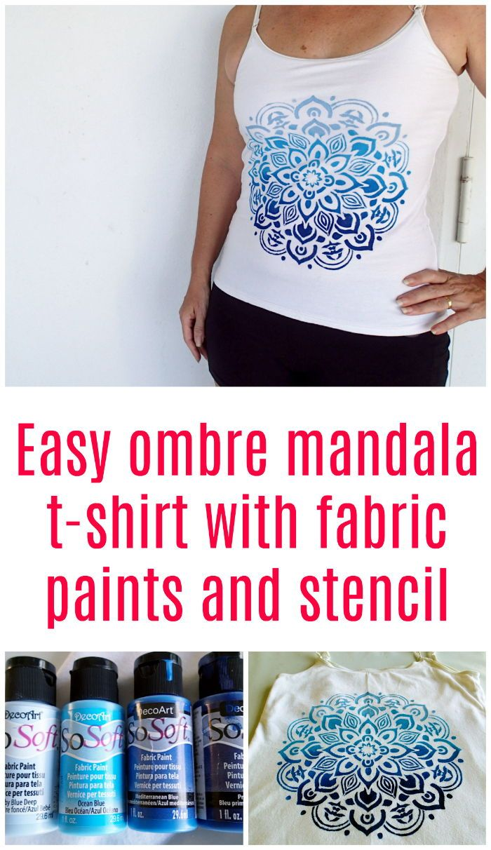 Create Custom Clothing With Fabric Paints And A Stencil Fabrics Paints Have Come A Long Way And Are Now Soft Colo Stencil Fabric Fabric Paint Fabric Painting