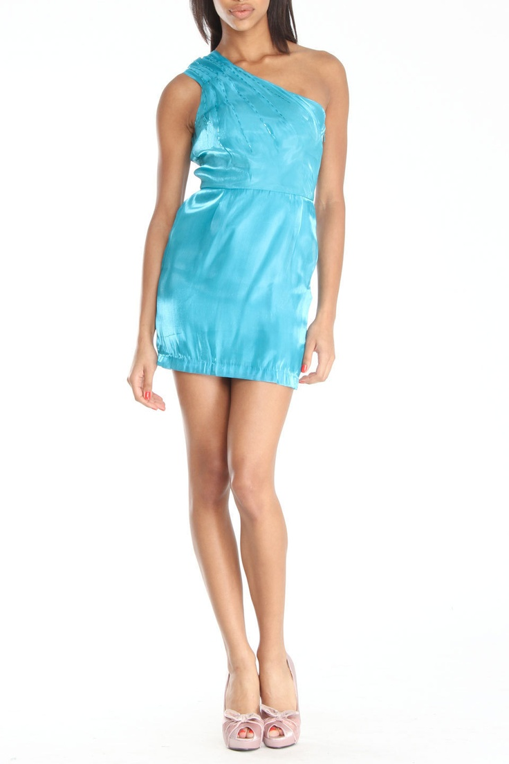 Lucca Couture One Shoulder Dress In Teal Beyond The Rack