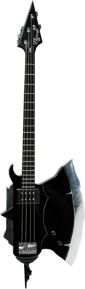 Axe bass made by Arturo Valdez in 1979, 2nd version. KISS Gene Simmons Axe bass collection 1/4 scaled miniature collection. visit us at https://www.facebook.com/KISS.my.Axe.basses.group/ MyLittleGuitar #kiss #axebass #genesimmons #bassmodel