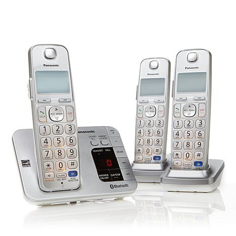 WIRELESS PHONES  --   Panasonic DECT 6.0 PLUS 3pk Link2Cell Cordless Phones HSN.com Reg:  $99.95 Sale:  $79.95