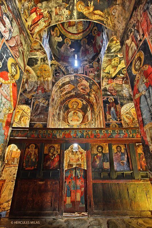This is my Greece   The byzantine church of Agios Germanos (11th century), Agios Germanos village, Prespes, Florina, Macedonia