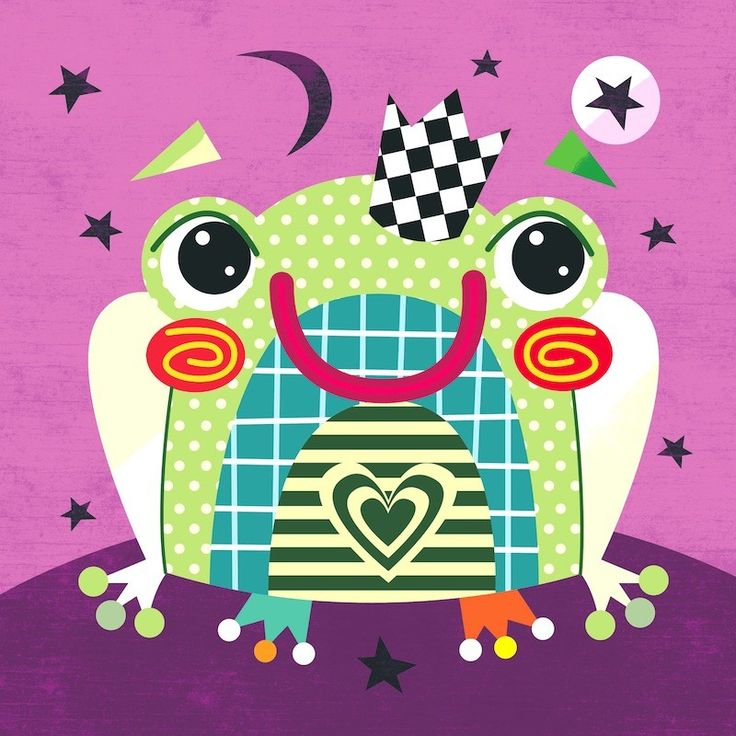Fairytale_Frog_Baby_Nursery_PrintBrighten up the walls of your children bedroom or nursery with our prints or canvases http://wittydoodle.co.uk/fairytale-frog-print.html