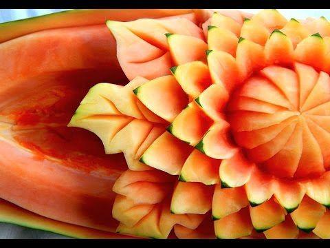 Lesson 29, Carving, การแกะสลักผลไม้, 水果雕刻, Ukiran buah, 果物のカービング, Khắc t...