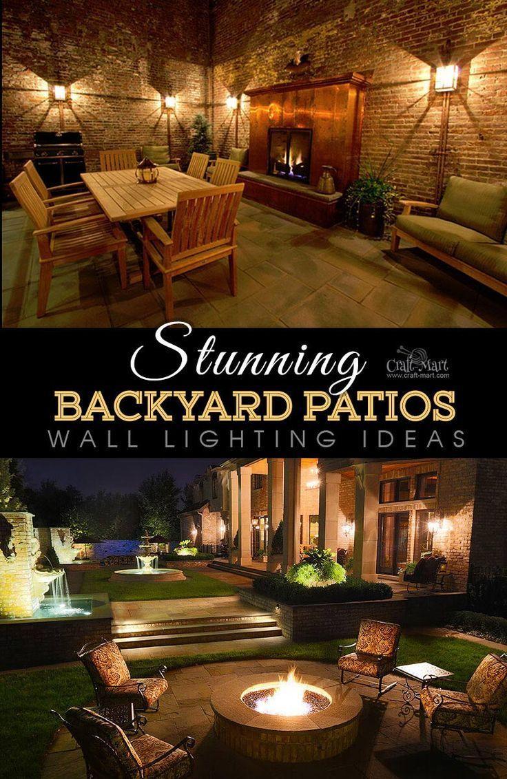 Stunning Patios With Lights Diy Patio Lighting Ideas Craft Mart Small Backyard Patio Backyard Patio Backyard Patio Designs