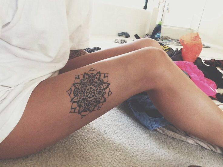 mandala on thigh