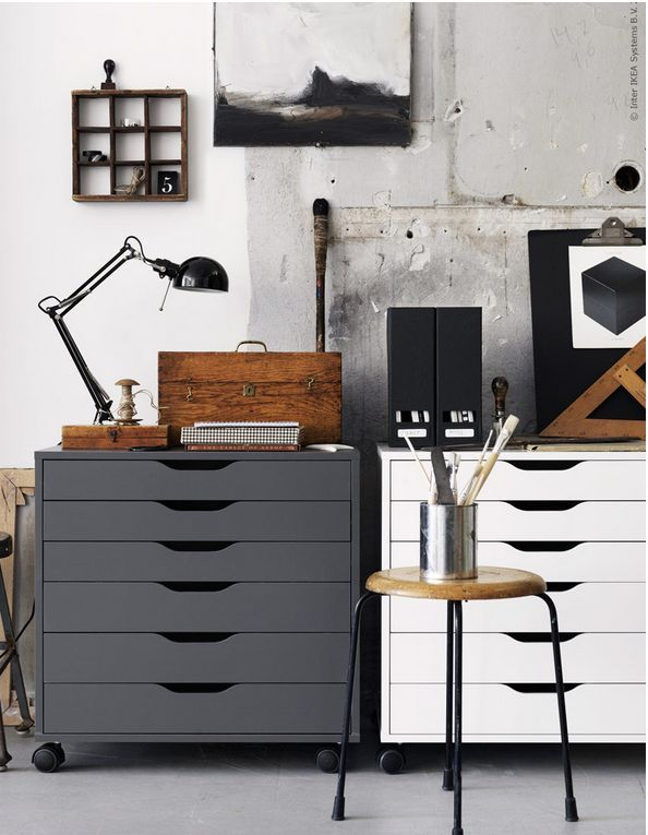 20 Artist Creatives Live Work Space Storage Ideas From Ikea Workspace Desk Art Studio At Home Home Office Decor