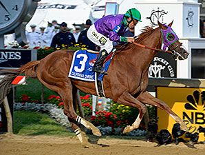 'Chrome' Wins Preakness, Shot at Triple Crown - No matter what this article tells you, though, Ride On Curlin was obviously NOT going to beat 'Chrome this time. In the stretch run he struggled and struggled to catch up to 'Chrome and just couldn't do it. In the final forty yards he closed about three-quarters of a length, probably only because Espinoza was easing 'Chrome up at the time.