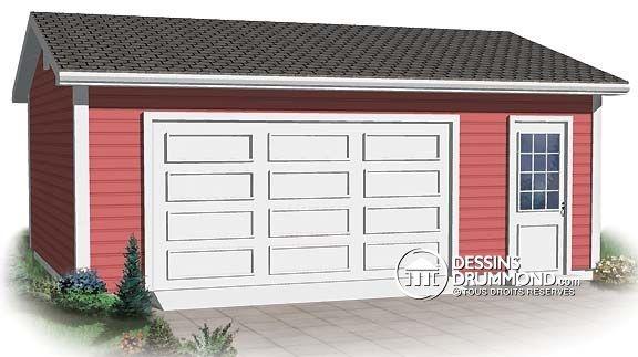 18 best garage plans images on pinterest car garage for 18 x 20 garage plans