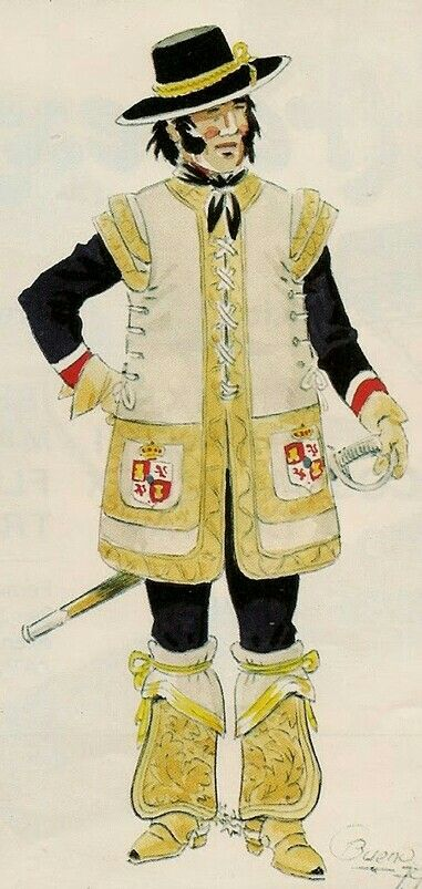 """Soldado de Cuera, New Spain --  """"leather coated soldier"""" was a type of soldier who served in the frontier garrisons of northern New Spain."""