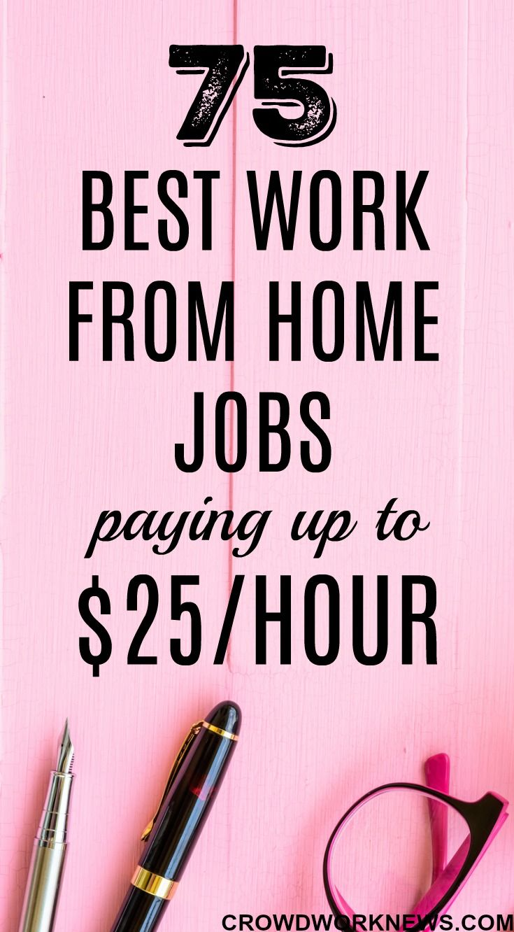75 Best Work From Home Jobs Near Me Paying Up To $25/hour