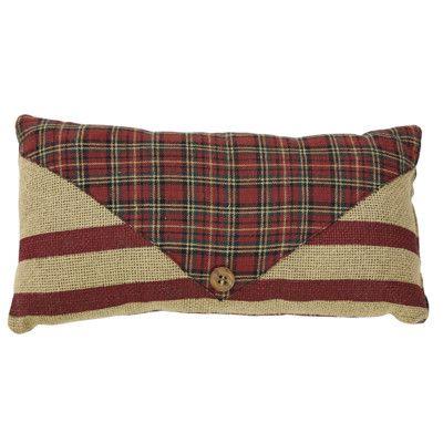 VHC Brands Tartan Holiday 2 Piece Santa's Mail Lumbar Pillow Set & Reviews | Wayfair