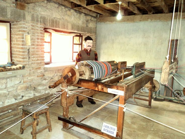 History of hand woven fabric @ Wax Museum Kizilcaboluk, Denizli