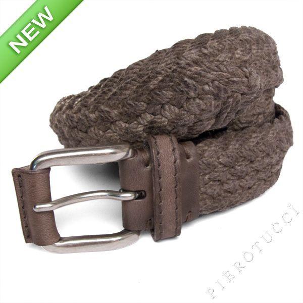 Post & Co designer belt in shades of grey cord Men's or Women's casual fashion http://www.pierotucci.com/en/italian-online-shop/81-0/Italian-leather-belts-for-women.html