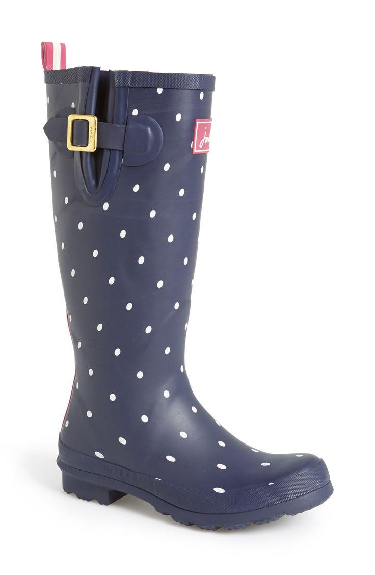 Spotted rain boots are fun!
