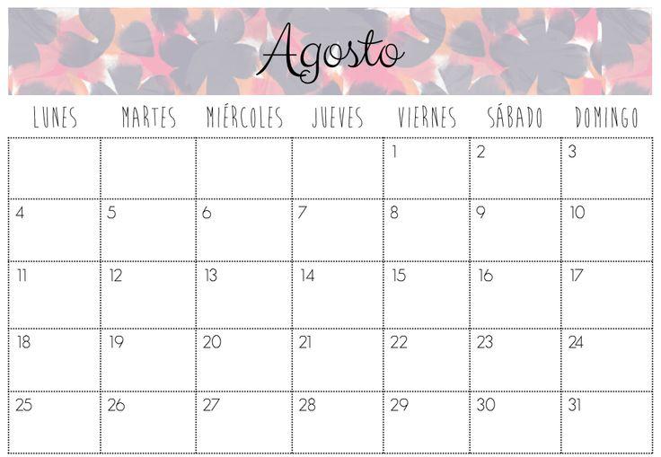 Calendario Agosto 2014 | Imprimibles