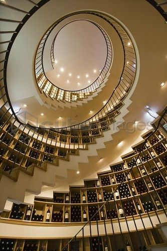 LIntendent, the Finest Wine Shop in France | Amazing Snapz.  Sooooo cool. But instead of wine I think I would have books so it would be like a winding staircase library. :)