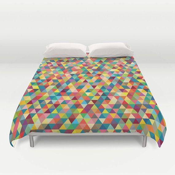 Colourful duvet cover, kids duvet cover, modern duvet cover,colourful duvet cover, geometric duvet cover, bedding, bedroom duvet, king size