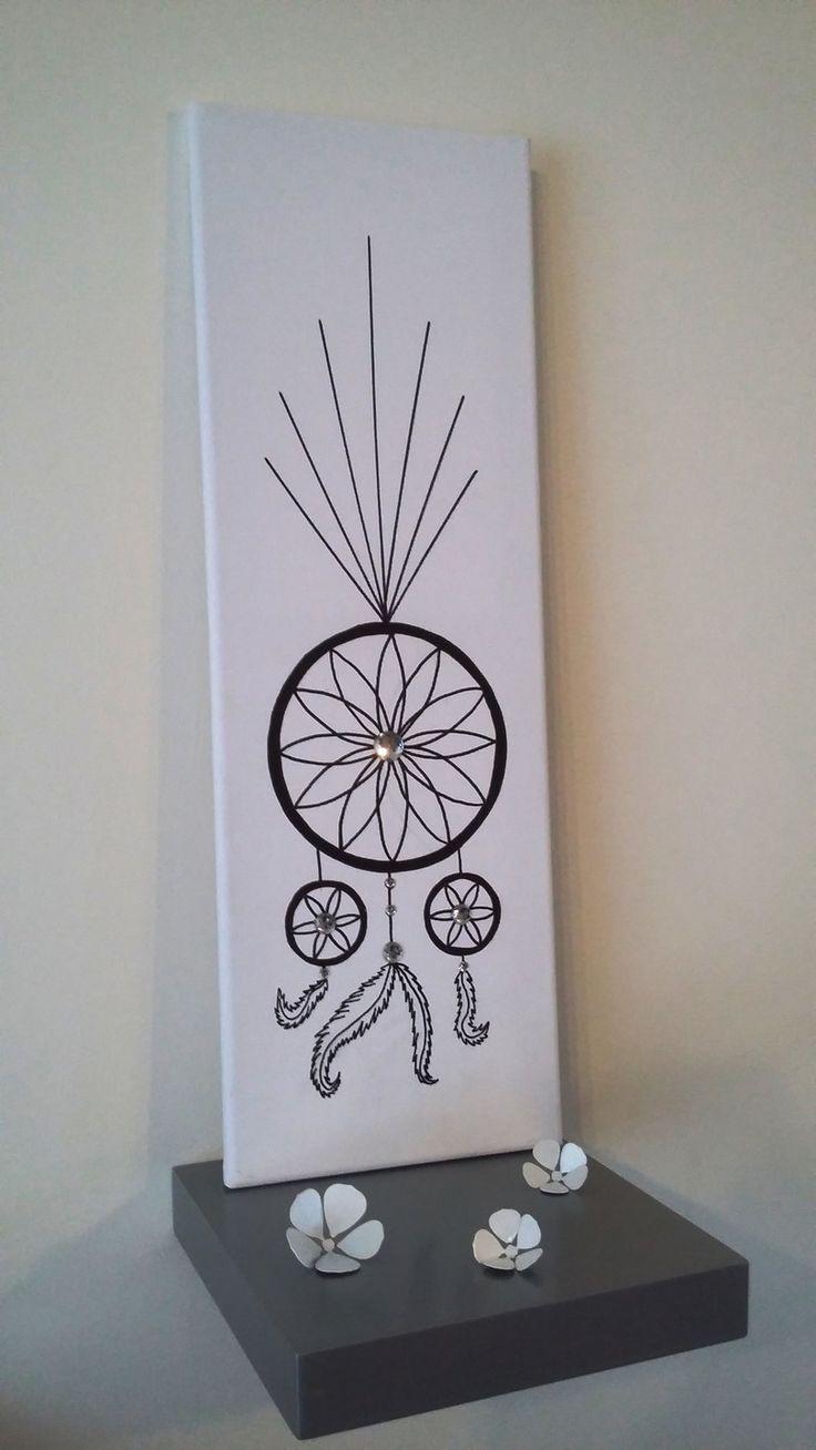 """arbre à empreintes """"attrape-rêve, dream catcher, capteur de rêve"""" avec strass : Décorations murales par stefebricole"""