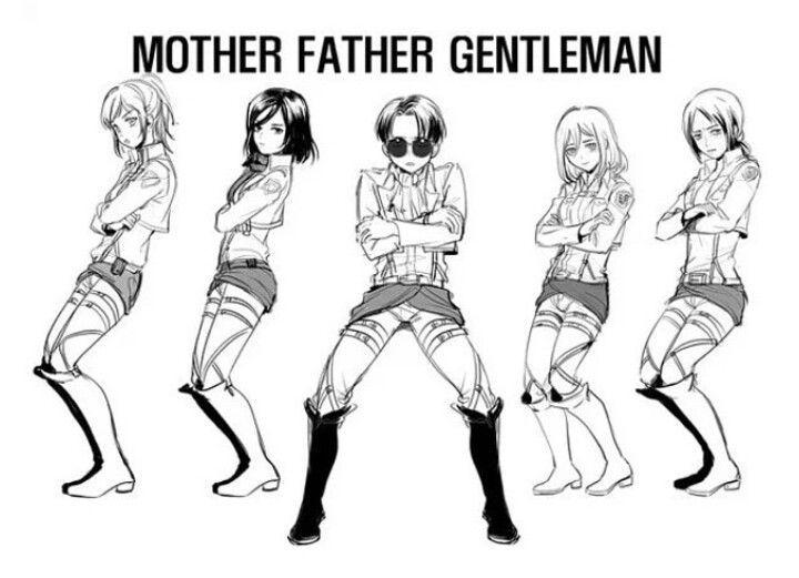 mother father gentleman on shingeki no style