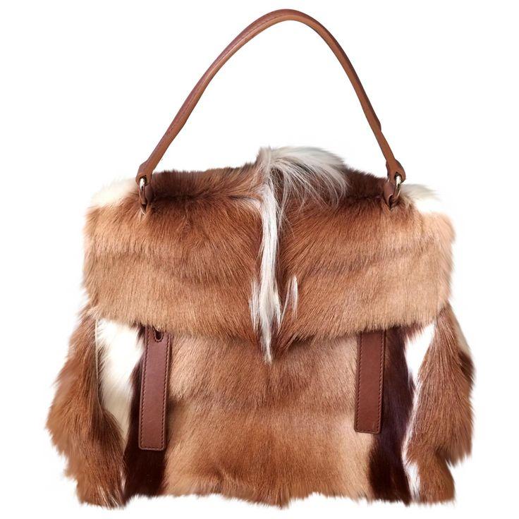 Yves Saint Laurent Fur Bag | Vestiaire Collective | Pretty Bags n ...