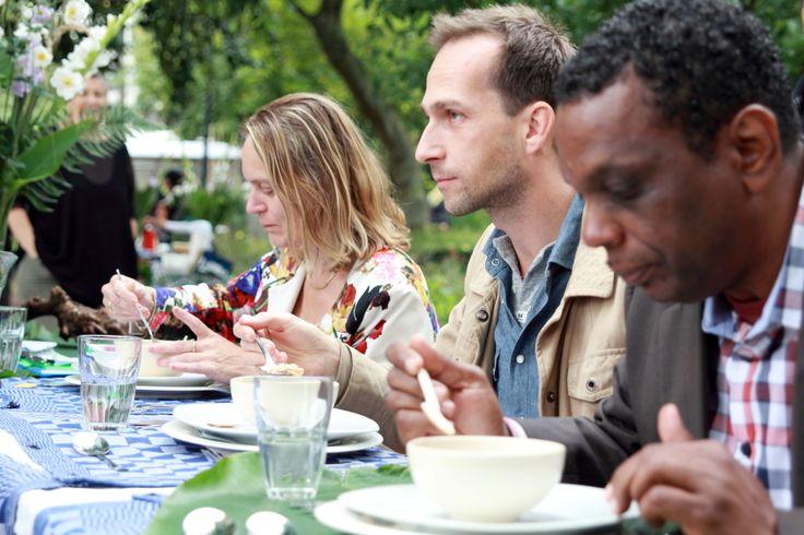 Hubert als jurylid tijdens Koken in het Groen.