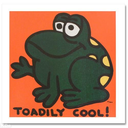 """""""Toadily Cool"""" Extremely LIMITED EDITION Giclee on Canvas by Renowned Pop Artist Todd Goldman"""