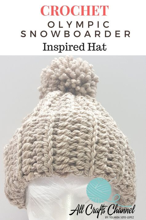 4daeb231ffd3a This Crochet Olympic Snowboarder inspired hat is so fast and easy to make.  It is a beginner level project. You can choose your own colors and how full  you ...