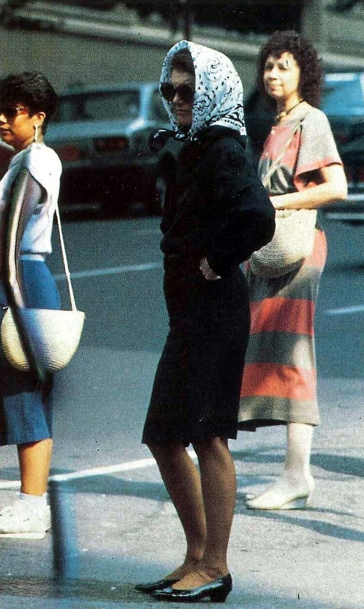Jacqueline walking in NYC, 1994