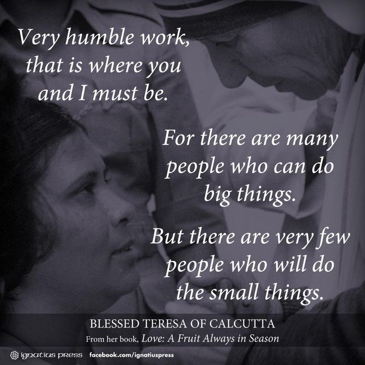 Mother Teresa · Saint QuotesSmall ThingsBlessed ...