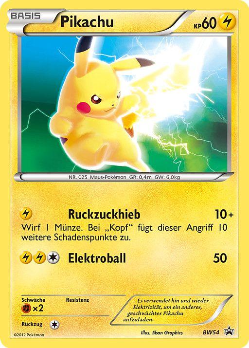 carte picachu | Pikachu BW54 » Blanco y Negro - Cartas Promocionales - Pokémon ...