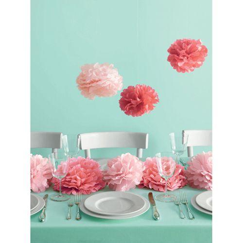 Martha Stewart Medium Pink Pom Poms Set