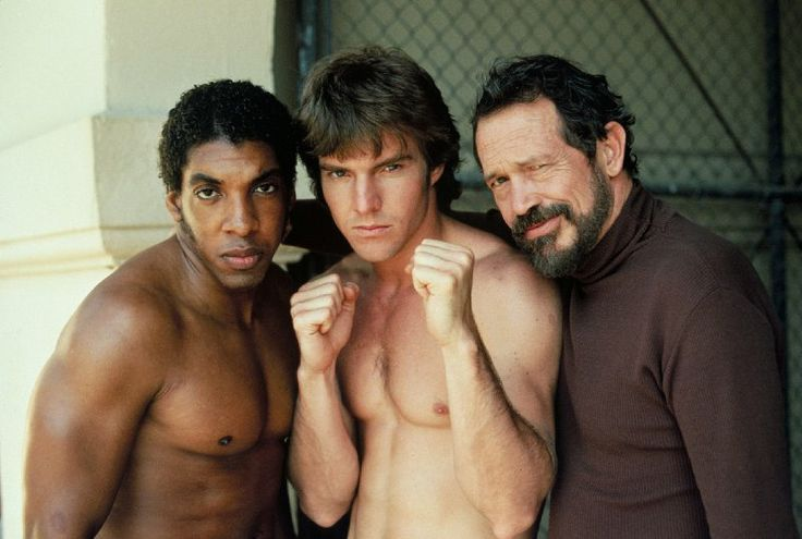 Still of Dennis Quaid, Warren Oates and Stan Shaw in Tough Enough (1983)