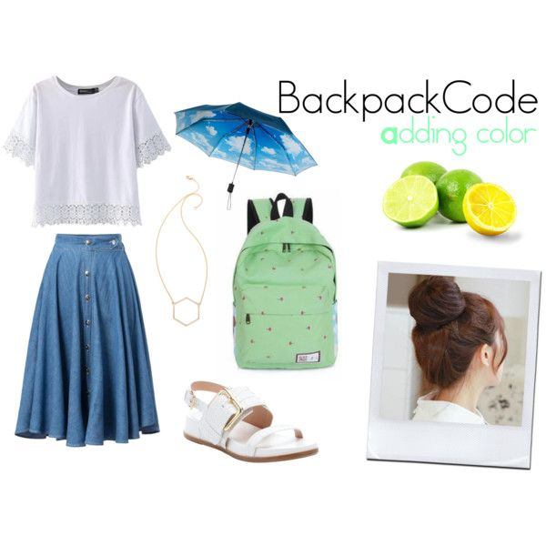 BackpackCode #2 Adding Color by mynameisleanne on Polyvore featuring ...