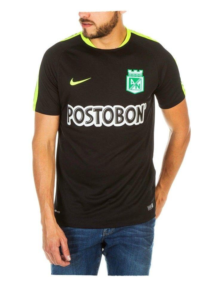 Camiseta Nike M/C Entrenamiento Negra Atlético Nacional 2016