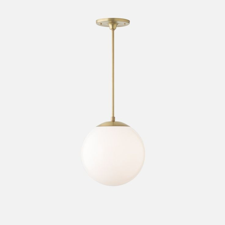 Luna pendant rod natural brass with 10 shade