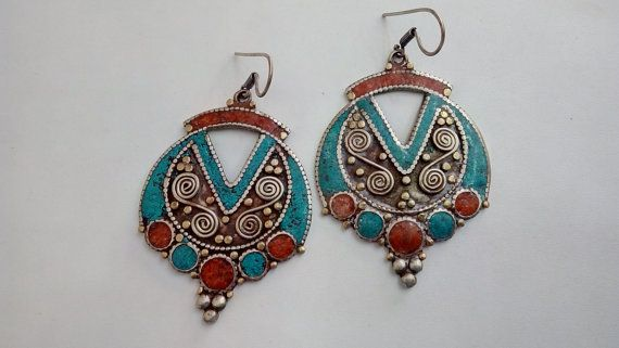 Check out this item in my Etsy shop https://www.etsy.com/listing/228495076/tibetian-earings