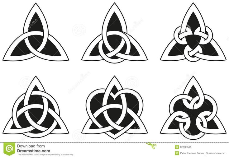 Celtic Triangle Knots Royalty Free Stock Photo - Image: 32590595