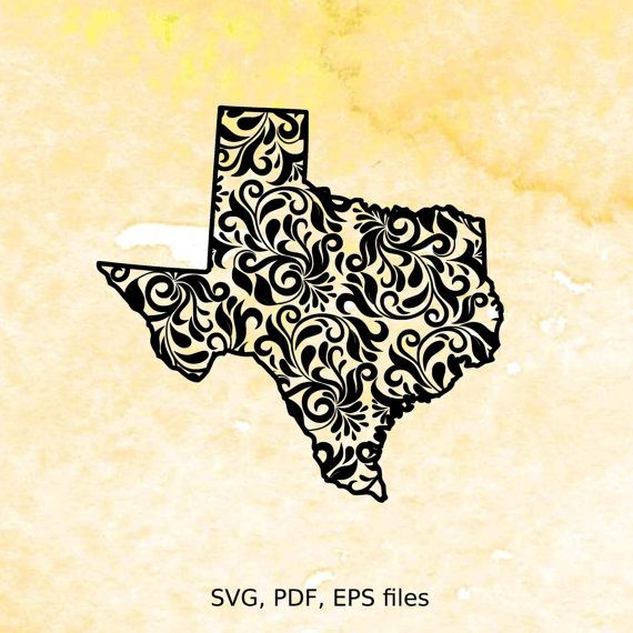 Instant download Floral pattern Texas state design in .SVG, PDF and EPS file formats.  You MUST have an Electronic Cutting Machine with software that reads offered file formats to use this design.  IMPORTANT: You are responsible for determining if these files are compatible with your software. I do NOT offer refunds. These are instant download, and you are responsible for downloading them yourself. Files comes compressed in .ZIP archive. You are also responsible for general computer…