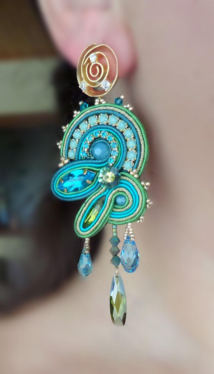 Soutache EARRINGS design by Serena Di Mercione