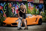 Graffiti and Lamborghini Couple