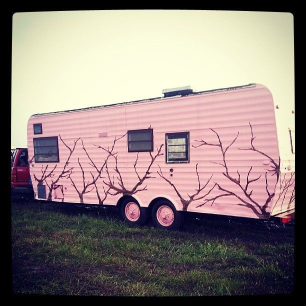 Saw this weekend.. A pink camo camper! :O