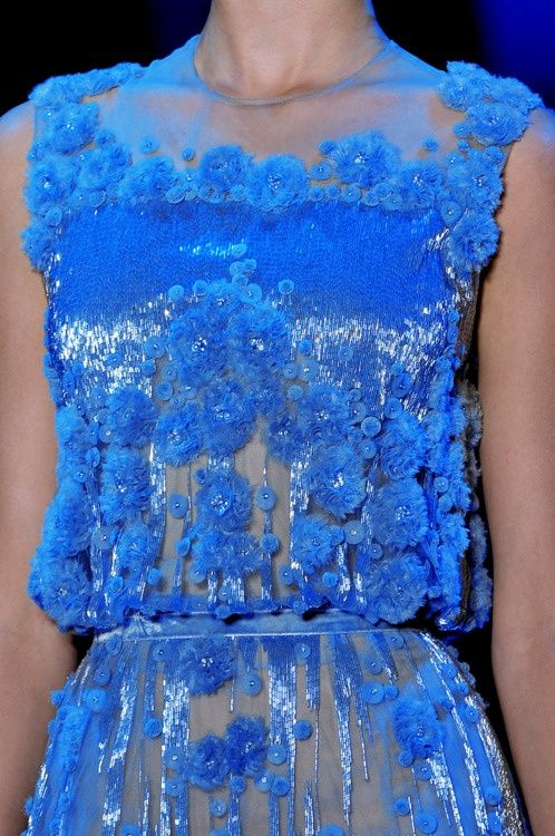 electric blue at Elie Saab,absolutely stunning colour