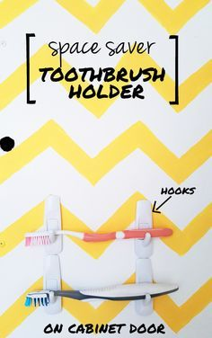 THE EASIEST BATHROOM STORAGE SOLUTION EVER | diy toothbrush holder