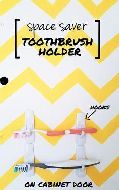 THE EASIEST BATHROOM STORAGE SOLUTION EVER | diy toothbrush holder