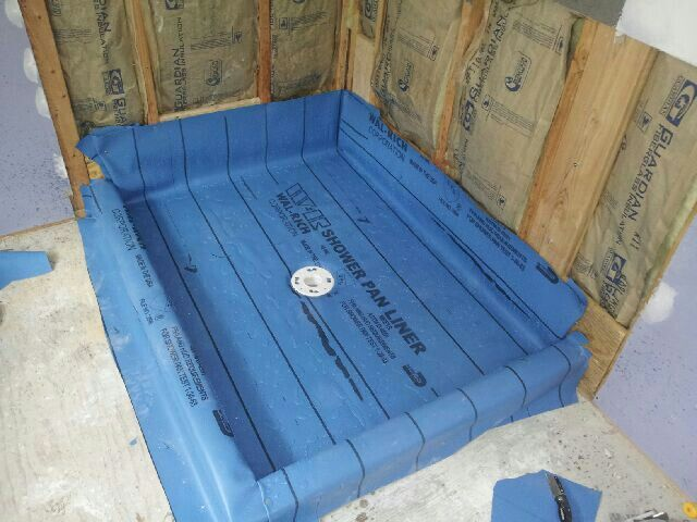 Best 25 shower pan liner ideas on pinterest tile shower for Tub shower liner installation