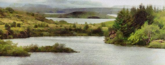 Myvatn  panorama canvas print by ArtbyOlafur on Etsy