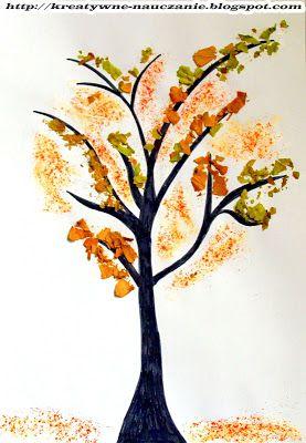 Kreatywne nauczanie: JESIENNE DRZEWO (liście + słodka papryka)