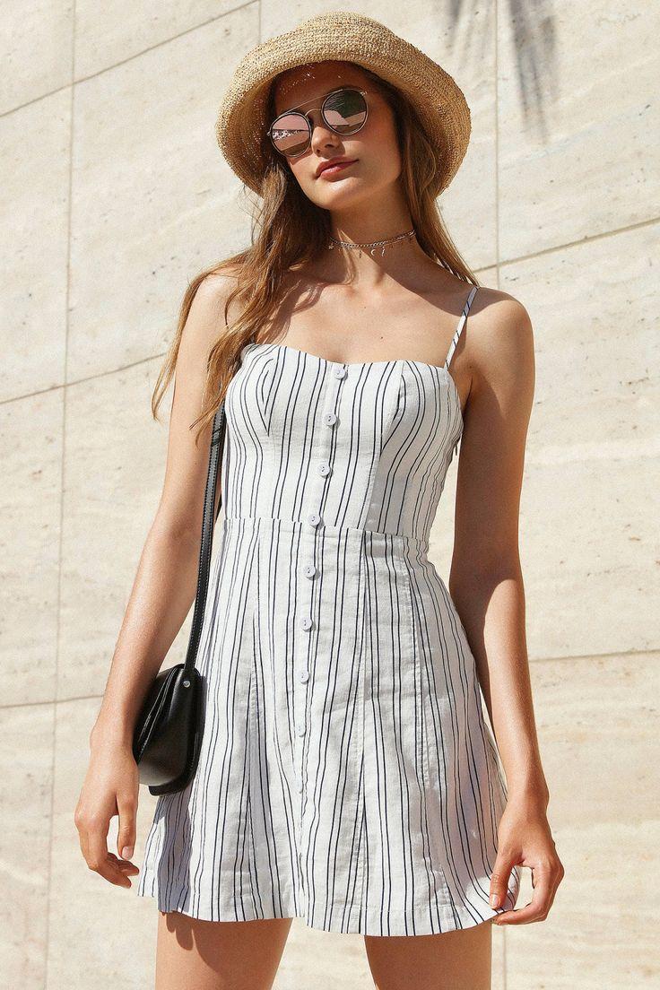 Slide View: 1: Kimchi Blue Lilyanna Linen Button-Down Dress
