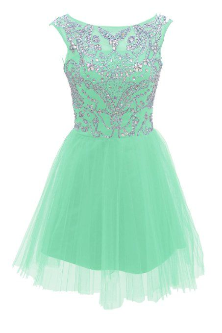 Amazon.com: Dressystar Short Blue Prom Evening Prom Dresses: Clothing
